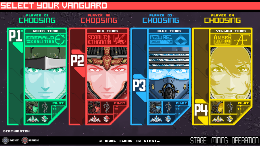 Stardust select screen