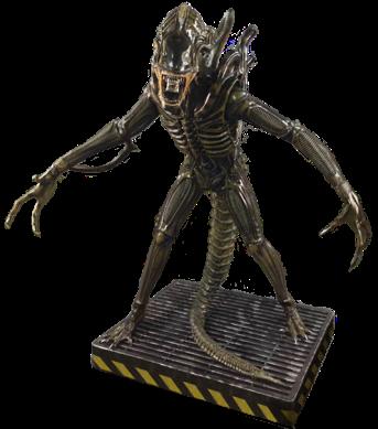 alienwarriorlifesizestatue